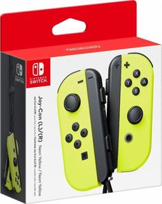 Nintendo - Joy-Con (L/R) Wireless Controllers for Nintendo Switch - Neon Yellow - Front_Zoom