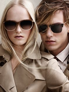 f5fa5668792 The latest Burberry S S14 campaign featuring Trench Collection sunglasses  inspired by the iconic Burberry