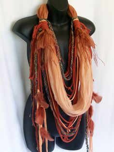 hippie scarf festival clothing burning man hippie boho by LamaLuz