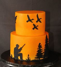 Duck hunting cake.