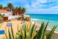 A beautiful beach in Armacao de Pera coastal town, Algarve region, Portugal by Pawel Kazmierczak