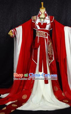 Gorgeous Chinese BJD Costumes Fairy Princess Empress Queen Cosplay Costumes Ancient Chinese Clothing Complete Set for Women Traditional Fashion, Traditional Dresses, Ancient China Clothing, Beautiful Outfits, Cool Outfits, Dynasty Clothing, Cosplay Outfits, Cosplay Costumes, Halloween Costumes