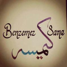 Benzemez kimse sana Album Design, Caligraphy, Arabic Calligraphy, Just Smile, Allah, Singing, My Favorite Things, Words, Art