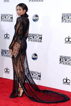 AMA 2015 : Ciara en transparence, Gigi Hadid décolletée, Kendall et Kylie au top Girl Fashion, Fashion Outfits, Womens Fashion, Fashion Trends, Ciara Style, Nicole Scherzinger, Outfits Inspiration, Jolie Lingerie, Mom Dress