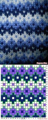 Fair Isle Knitting Patterns, Fair Isle Pattern, Knitting Charts, Knitting Stitches, Knitting Socks, Knitting Designs, Knitting Projects, Baby Knitting, Knitting Tutorials