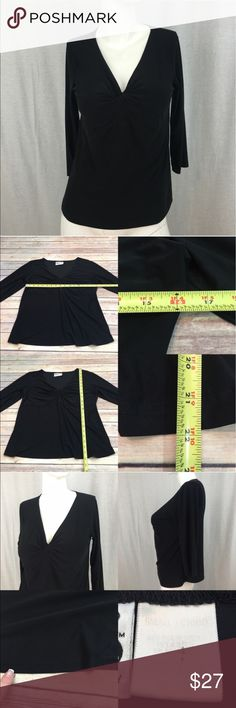 💗Small Duo Maternity Vneck 3/4 Sleeve Stretch Top Measurements are in photos. Normal wash wear, some missing hem at the bottom. no other flaws. B2  I do not comment to my buyers after purchases, due to their privacy. If you would like any reassurance after your purchase that I did receive your order, please feel free to comment on the listing and I will promptly respond.   I ship everyday and I always package safely. Thank you for shopping my closet! Duo Maternity Tops Blouses
