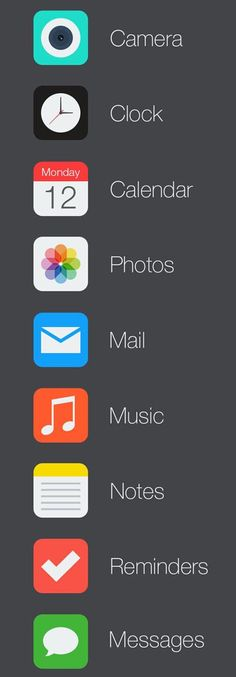 iOS 7 Icon Redesign. Can't wait for the upgrade in the fall. #ios7 #pretty #technology