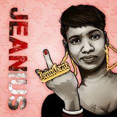 #digital #vector #illustration #JeanGrae #hiphop #music #jeanius