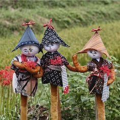 Scarecrows at the Nara Village of Asuka, Japan.
