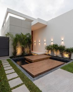 """House Exterior on Instagram: """"How you rate this amazing facade?? - Exterior and Interior by @janninacabal  Photography by @jag_studio Lightning by @integralilumina"""" Design Exterior, Facade Design, Modern Exterior, Architecture Design, Villa Design, House Front Design, Modern House Design, Modern House Facades, Luxury Homes Dream Houses"""
