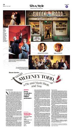 Sweeney Todd, a Pie and Mash Shop, and Yout|Epoch Times #Theater #newspaper #editorialdesign