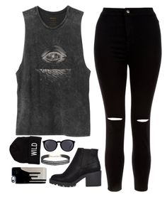"""""""I don't want to sit still, look pretty """" by feel-like-infinity ❤ liked on Polyvore featuring New Look, RVCA, River Island, American Eagle Outfitters, Yves Saint Laurent and Humble Chic"""