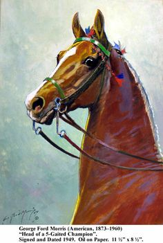 Head of a Five Gaited Champion by George Ford Morris from sara lew;is