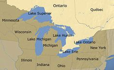 Michigan has the longest freshwater coastline of any political subdivision in the world, being bounded by four of the five Great Lakes, plus Lake Saint Clair. MI has 64,980 inland lakes and ponds. A person in the state is never more than six miles from a natural water source or more than 85 miles from a Great Lakes shoreline. Michigan is the only state to consist of two peninsulas.