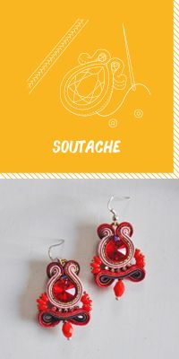 Learn how to sew soutache braid Swarovski, Bijoux Diy, How To Make Earrings, Learn To Sew, Diy Jewelry, Crochet Earrings, Braids, Creations, Sewing