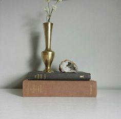 Brass Vase, Mini Vases, Bohemian Vases, Bud Vases, Tiny Vase, Brass Bud Vases, Small Vases, Brass Urn Flowers, Gold Vase Brass Planter, Small Flower Vases by ShopMidCenturyModest