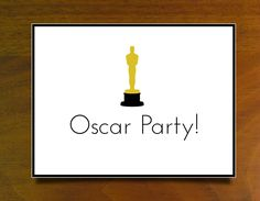 Oscar party invitation - Free printable!