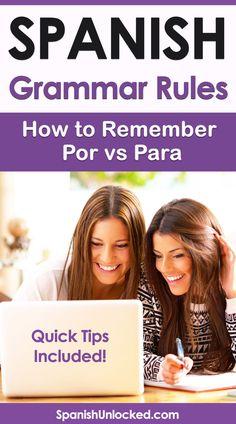 Simple Spanish Words, Spanish Help, Free Spanish Lessons, Learn Spanish Free, Learn To Speak Spanish, Learn Spanish Online, Study Spanish, French Lessons, Spanish Grammar