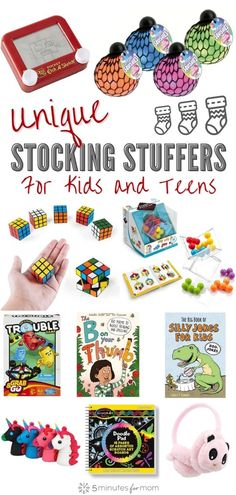 Stocking Stuffer Gifts for Kids and Teens - Creative, unique, fun and practical gift ideas kids and teenagers will love. #giftideas #gifts #stockingstuffers #kidsgifts #teengifts Unique Gifts For Kids, Unique Toys, Gifts For Teens, Creative Gifts, Holiday Gift Guide, Holiday Gifts, Stocking Stuffers For Teenagers, Spelling For Kids, Holiday Themes