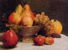 The Athenaeum - Bowl of Fruit (Henri Fantin-Latour - )