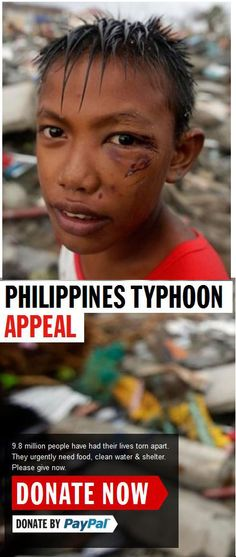 Please help the survivors of the Phillippines Typhoon. DONATE NOW - THANK YOU http://www.dec.org.uk/