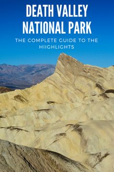 The hottest and driest place in the US as well as the largest national park in the 48 states, Death Valley has so many stunning areas to explore, see, and hike. If you're heading to the park, this guide will help you plan so you don't miss out. #travel #deathvalley #nationalpark #California #ustravel