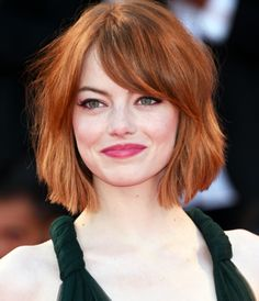 Love Emma Stone; great cut and color