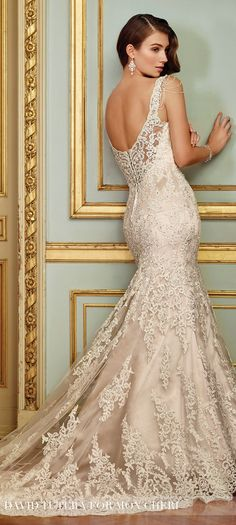 Wedding Dress by David Tutera for Mon Cheri 2017 Bridal Collection | Style No. » 117288 Ophira