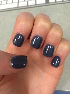 Dark and stormy blue purple gray Nexgen manicure nails