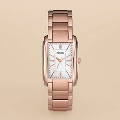 FOSSIL® Features Rose Watches:Women Adele Plated Stainless Steel Watch - Rose ES2731