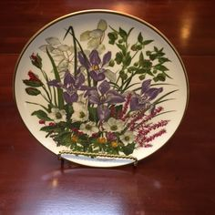 Wedgewood Botanical Plate from the 1970s, Decorative Plates, Etsy Seller, Elegant, Chic, Antiques, Tableware, Creative, Modern