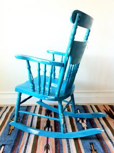 vintage upcycled rocking chair.