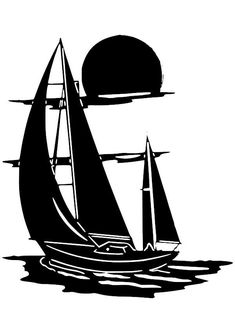 Boat at Sunset Vinyl Decal