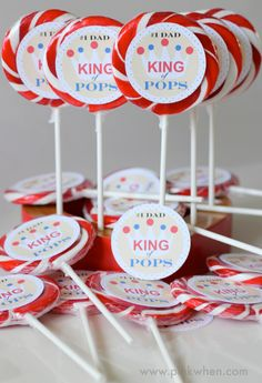 A Father's Day Free Printable - The KING of POPS !