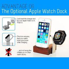 The optional Apple Watch Dock. ONEDOCK for all Smartphones, Tablets and even Apple Watch one-dock.com #getonedock #onedockforall #apple #samsung #htc #oneplusone #iphone #ipod #ipad #htcone  #wood #applewatch #applewatchdock #luxury #luxus #luxo #kickstarterstaffpick #kickstarter #startup #staffpick #backer #mashpics #madewithkickstarter #gadget #gadgets #gadgetflow