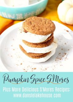 Looking for pumpkin spice recipes? Try pumpkin spice s'mores by the bonfire this fall. Click through for this and other s'mores recipes and s'mores variations to update a classic bonfire treat! Easy and delicious bonfire food and an easy fall dessert idea - I show you how to make s'mores in the oven too. Enjoy this and other pumpkin recipes from Dans le Lakehouse and bring some magic to fall. #pumpkinspice #smores Tart Recipes, Baking Recipes, Dessert Recipes, Fall Desserts, Birthday Desserts, How To Make Pumpkin, Trifle Pudding, Delicious Cookie Recipes, Cheesecake Desserts