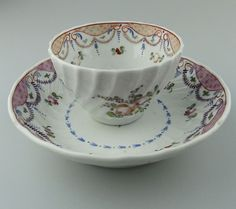 Antique Ceramics : A New Hall type Tea Bowl & Saucer C.late 18th Century in Pottery, Porcelain & Glass, Date-Lined Ceramics, Pre-c.1840 | eBay!