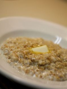 Recipe: Overnight Crock Pot Oatmeal 1 cup steel cut or regular oats (NOT Quick Oats!) 4 cups water 1/2 cup milk 1/4 cup brown sugar 1  TBS butter 1/2  tsp vanilla extract 1 tsp cinnamon 1 chopped fresh apple before cooking.  Combine all in crockpot and cook on low for 8hrs.  Serve with milk & cinnamon sugar.