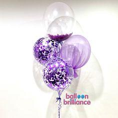 Purple and pretty 💜 . . . #purpleconfetti #purpletulle #purplefeathers #purpleballoons #canberraballoons #queanbeyanballoons #balloonscanberra #BalloonBrilliance
