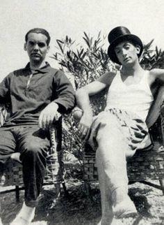 Federico Garcìa Lorca (left) and Salvador Dalì