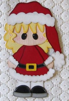 Christmas Santa Girl Paper Piecing