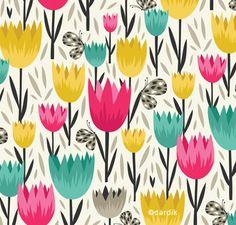 Bold floral pattern by Helen Dardik