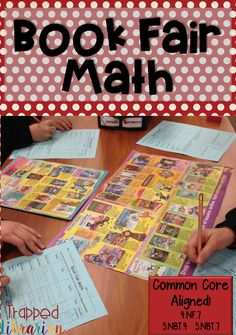 FREE Book Fair Math activity for 4th Library Themes, Library Activities, Math Activities, Library Skills, Library Lessons, Elementary School Library, Elementary Math, Reading Motivation, Teacher Freebies