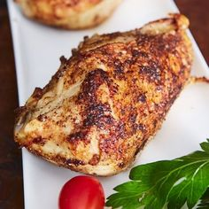 This oven roasted chicken breast is crispy-skinned, tender and juicy on the inside, and very flavorful. It's very easy to make and hard to mess up.