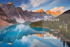 Moraine Lake at sunrise, Banff National Park, Canada. Beautiful Moraine Lake in , Moraine Lake, Rocky Mountains, The Tourist, Top Countries To Visit, Banff National Park Canada, Banff Canada, Highland Park Village, Fairmont Banff Springs, Sunrise Lake