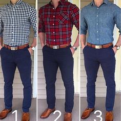 Which was your favorite combo with blue pants and tan shoes❓ or Tap for brands. Have an amazing weekend❗️❗️❗️ Blue Pants Outfit, Blue Pants Men, Trajes Business Casual, Business Casual Outfits, Moda Men, Formal Men Outfit, Mode Costume, Style Masculin, Elegantes Outfit