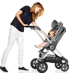 keep the connection while strolling with a higher-positioned stroller seat.... check out Stokke Scoot Stroller
