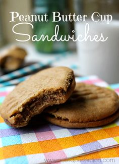 Posed Perfection: Peanut Butter Cup Sandwiches ~ Cookie of the Month...