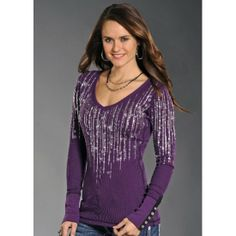 Rock and Roll Cowgirl Purple Rain Thermal