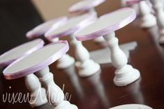 Ribbon Trimmed Cupcake Stands